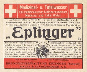 Eptinger Etikette 1923