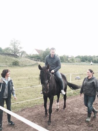 Diana, Heidi und Markus (erste mal auf  einem Pferd gesessen! :-))