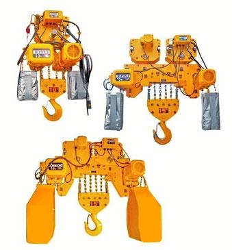 キトー製 電動トロリ付電気チェーンブロック