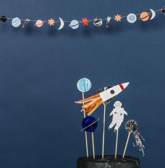 deco anniversaire garçon 1 an theme astronaute, espace