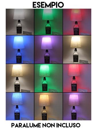 Una lampada bottiglia creata con il nostro kit portalampada e27 nero