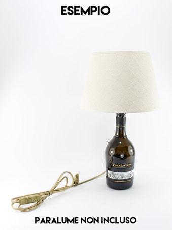 Una lampada bottiglia creata con il nostro kit portalampada e14 nero