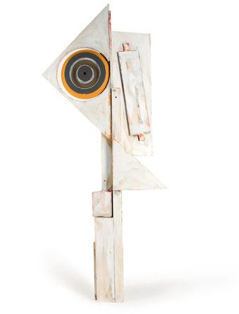 "Popov, Victor, ""Mast"", Holz, Acryl, 64 x 153 x 17 cm, 2010, Preis auf Anfrage"