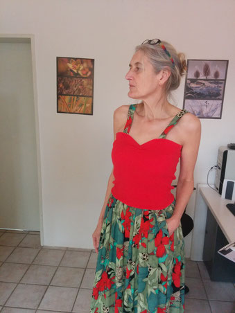 Rock findet Top zum gemeinsamen Kleid, Idee und Ausführung: Beate Gernhardt