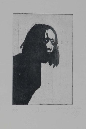 Druckgrafik Portrait Anne