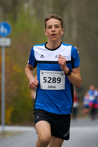 Viele, Viele Kilometer musste John Viehweger zurücklegen, um den Lichtenauer Sachsencup in der männlichen U16 zu gewinnen.