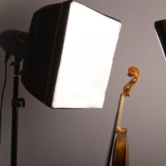 professionelles Fotostudio für Instrumenten-Fotografie und die Erstellung von Declaration of Materials