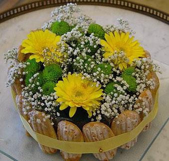 gâteau de fleurs- mars 2017