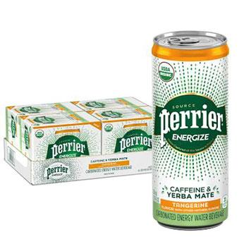 """La """"bebida energizante"""" en lata de Perrier en base a yerba mate, en las páginas de Amazon"""