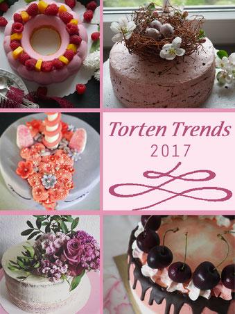 torte, torten torten trends, naked cake, ombre look, torten mit blumen