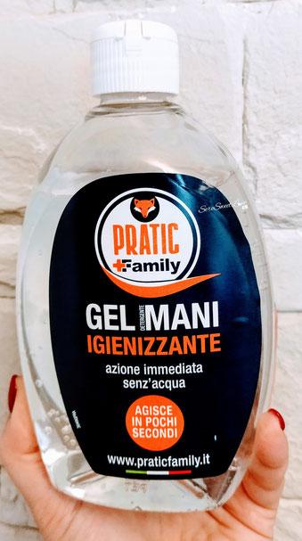 Gel igienizzante mani Pratic Family sultavolo