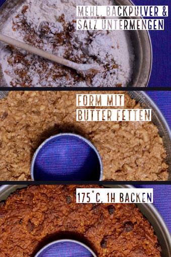 Backform, backen, Butter, Mehl, Salz, Backpulver