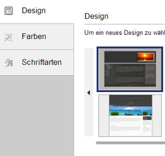 Menü Design und Layout