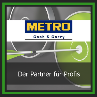Einkauf Lieferant Logo Metro Cash and Carry