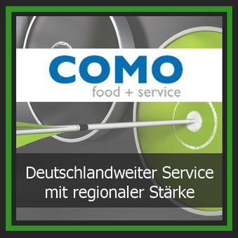 Einkauf Lieferant Logo Como food and service