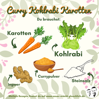 Fermentierte Curry Kohlrabi Karotten