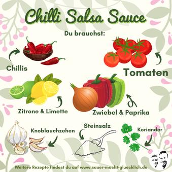 Fermentierte Salsa Chili Sauce - Jetzt wird's feurig!