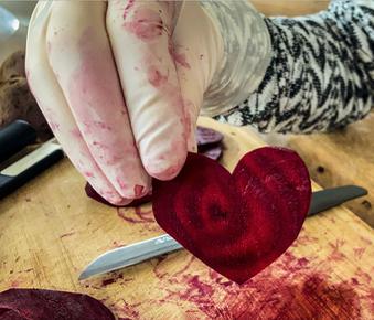 Valentinstag – Ein Herz aus Rote Beete