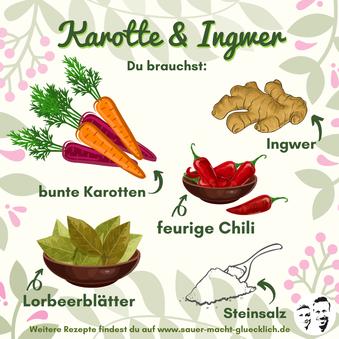 Fermentierte Möhren - Ein buntes Ferment für den Sommer!