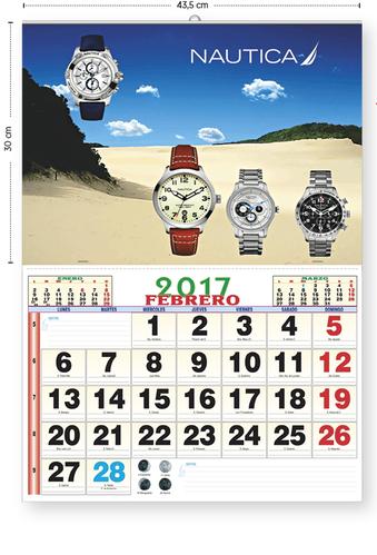 Ejemplo Calendario con lámina (43,5 x 30) + faldilla