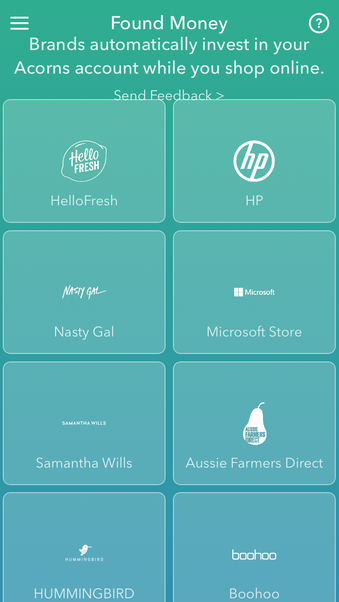 Over 70 retailers to give you cash back into your Acorns account!