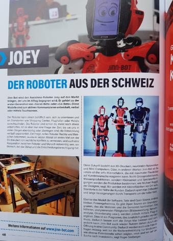 Jinn-Bot Assistenzroboter Schweiz Booster Magazin