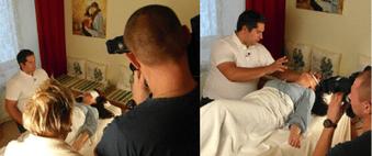 TVN Poland, TV Aufnahmen Geistheilung bei Jesus Lopez