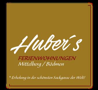 Logo – Hubers Ferienwohnungen, Ferienwohnungen in Mittelberg im Kleinwalsertal für 2 bis 5 Personen. Apartement, finnische Sauna, einheimische Gastgeber, WLAN, Mittelberg, Bödmen