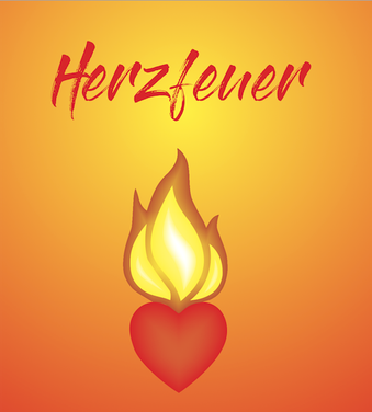 Symbol des Herzens, Herzöffnung und Symbol des Feuers, des inneren Feuers - die Vereinigung von beiden- von Herz und Feuer