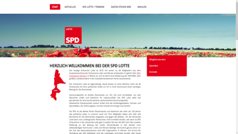 Screenshot der Webseite www.spd-lotte.de