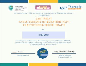 ASI Zertifikat