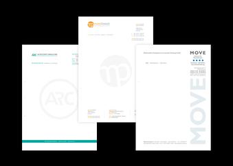 Briefbogen, Rechnungsbogen | Beispiele