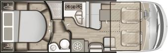 Grundriss Mobilvetta K-Yacht Tekno Design 89