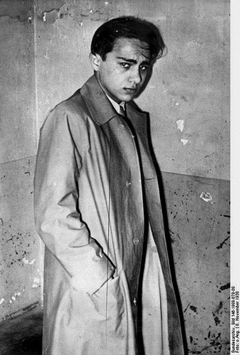 Herschel Grynszpan efter hans anholdelse i Paris