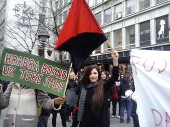 Solidaritsdemo i Beograd med oprøret
