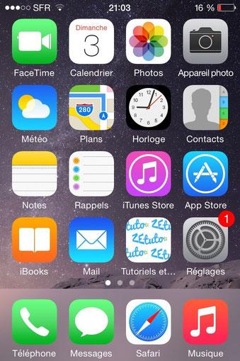 Une ic ne pour iphone ipad ze tuto tutoriels jimdo for Application miroir pour ipad