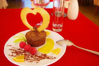 dessrert gourmand saint valentin