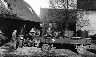 Traubenanlieferung im Amthof Mitte der 1960 er Jahre