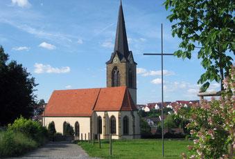 Die Sickinger Kirche – Ansicht von Süden
