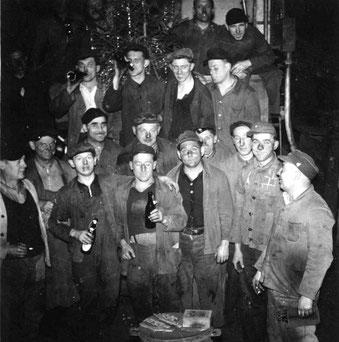 Weihnachtsfeier EGO-Schlosserei – 1960er Jahre