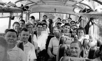 Ausflug des ev. Kirchenchors Derdingen in den 1950er Jahren