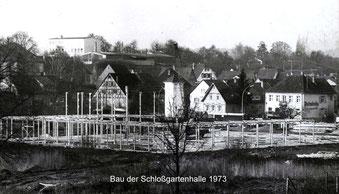 Neue Schlossgartenhalle in Flehingen 1973