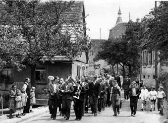 Festumzug in Flehingen ca. 1955