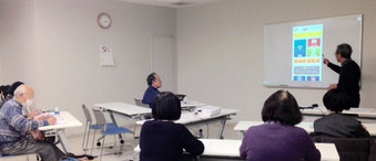 ☆午後の部の案内役は田村 徹研究員さん。元行政の福祉関連のお仕事をされていました。