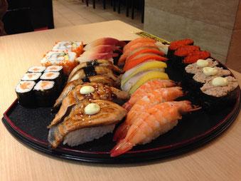 Sie finden das lecker? Nach diesem sündhaft teuren Sushi hatte ich zwei Tage lang Bauchkrämpfe und Durchfall.