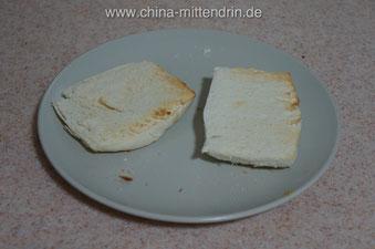 Mantou, frisch aus dem Toaster.