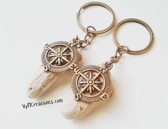 brujula, maderas del mar, maderasdelmar.com, llavero madera, rosa de los vientos