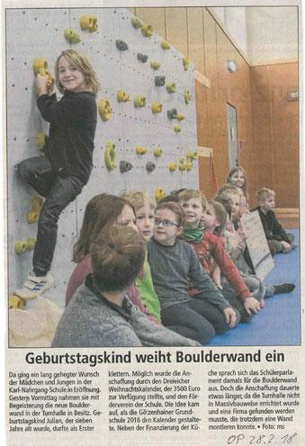 Auch an diesem Tag hat uns die Offenbach Post besucht und in der Zeitung darüber berichtet.