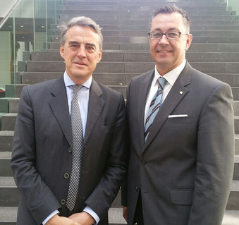 IATA Chief Alexandre de Juniac (left) was accompanied by Mathias Jakobi, IATA Area Manager Central Europe, at his mission in Germany