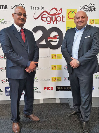 Met at Fruit Logistica (l to r): Egyptair Cargo manager Khaled Youssef and Hassaan Aglan of GSA Skyline Air Services  -  photos: hs